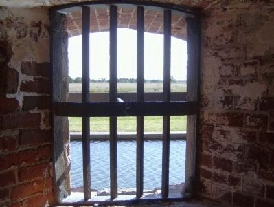 View looking out from the prison. Photo, Click for full size