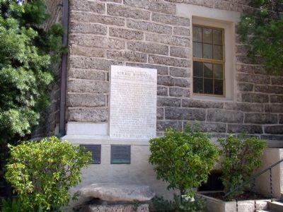 Hiram Bingham Marker and other Plaques Photo, Click for full size