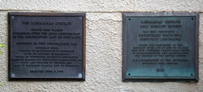 Plaques Below the Marker Photo, Click for full size