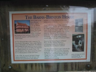The Barnes-Brinton House Marker image. Click for full size.
