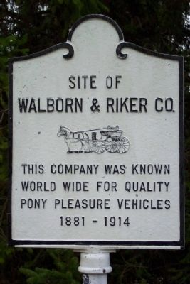Site of Walborn & Riker Co. Marker Photo, Click for full size