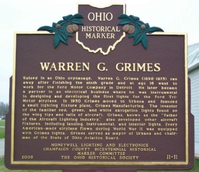 Warren G. Grimes Marker (side A) Photo, Click for full size