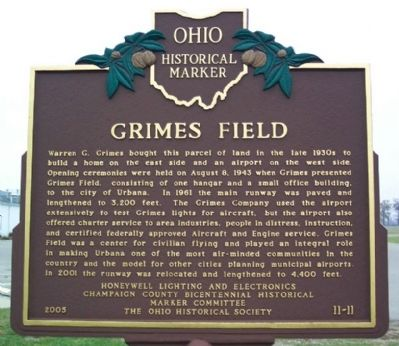 Grimes Field Marker (side B) Photo, Click for full size