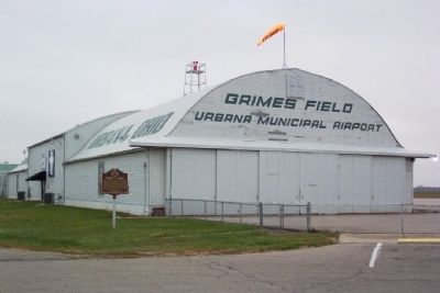 Warren G. Grimes / Grimes Field Marker Photo, Click for full size