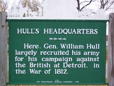 Hull's Headquarters Marker image. Click for full size.