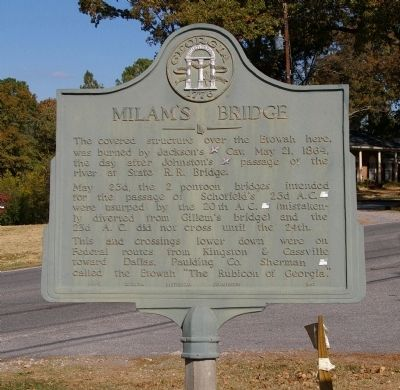 Milam's Bridge Marker image. Click for full size.