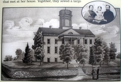 Close-up of Courthouse Sketch from Marker image. Click for full size.