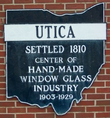 Utica Former Corporate Limit Marker image. Click for full size.