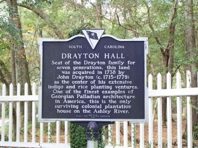 Drayton Hall Marker image. Click for full size.