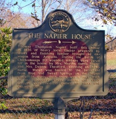 The Napier House Marker image. Click for full size.