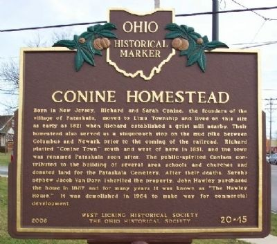 Conine Homestead Marker image. Click for full size.