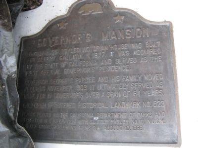 Governor�s Mansion Marker image. Click for full size.