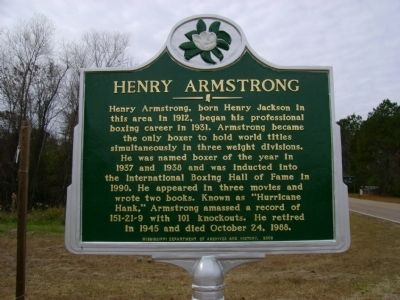 Henry Armstrong Marker image. Click for full size.
