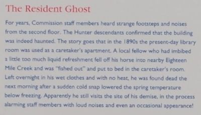 Hunter&#39;s Store Marker -<br>The Resident Ghost Photo, Click for full size