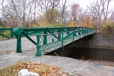 Snyder Park Iron Bridge Over Buck Creek image. Click for full size.