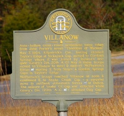 Villanow Marker Photo, Click for full size