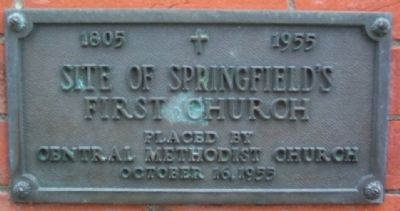 Site of Springfield's First Church Marker image. Click for full size.