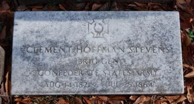 Clement Hoffman Stevens Tombstone Photo, Click for full size