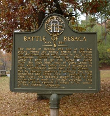 Battle of Resaca Marker Photo, Click for full size