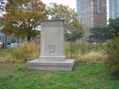 Marker in Battery Park image. Click for full size.