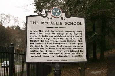 The McCallie School Marker image. Click for full size.