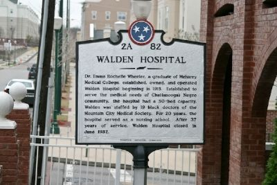 Walden Hospital Marker Photo, Click for full size