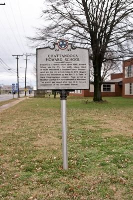 Chattanooga Howard School Marker image. Click for full size.