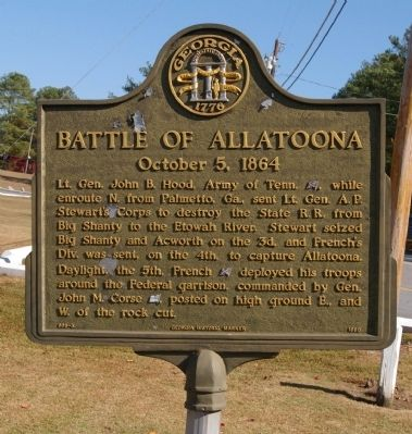 Battle of Allatoona Marker image. Click for full size.