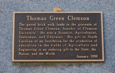 Thomas Green Clemson Marker image. Click for full size.
