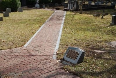Path Leading from Clemson Marker to Grave image. Click for full size.