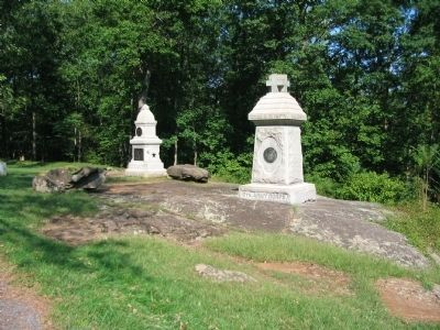 122nd and 149th New York Infantry Monuments image. Click for full size.