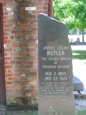 James Logan Butler Gravesite and Marker image. Click for full size.