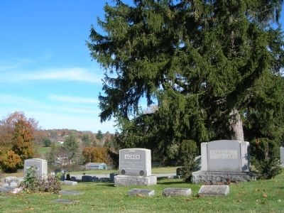 Grandma Moses Burial Plot in the Maple Grove Cemetery image. Click for full size.