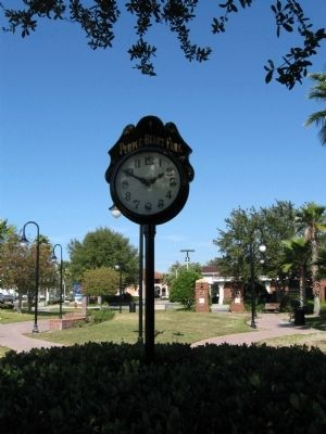 Purple Heart Park clock image. Click for full size.