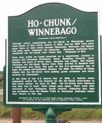 Ho-Chunk / Winnebago Marker Photo, Click for full size