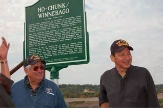 Matt Pilcher and Jim Snow at the Marker Photo, Click for full size