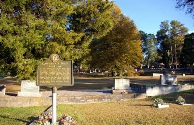 Confederate Dead Marker and the Cassville Cemetery image. Click for full size.