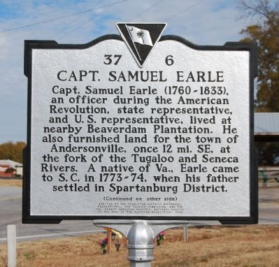 Capt. Samuel Earle Marker - Front image. Click for full size.