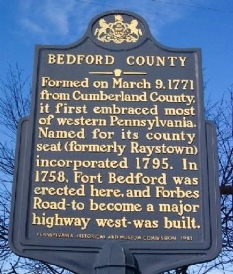 Bedford County Marker image. Click for full size.
