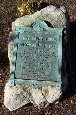 First Court House and Prison Marker image. Click for full size.