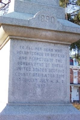 Bedford County Civil War Monument image. Click for full size.