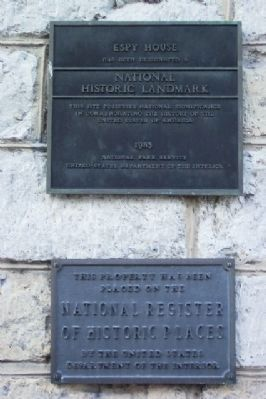 National Historic Landmark and National Register of Historic Places Markers image. Click for full size.