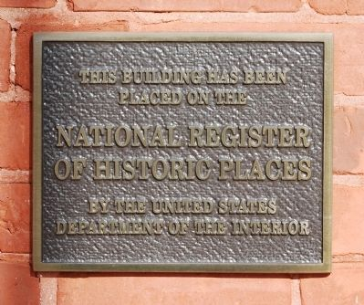 Walhalla Graded School's National Register Plaque image. Click for full size.