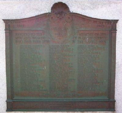Franklin County World War I Memorial Marker image. Click for full size.
