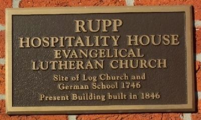 Rupp Hospitality House Marker image. Click for full size.
