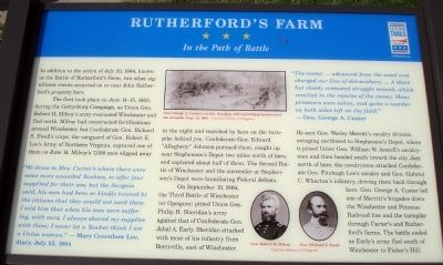 Rutherford's Farm Marker image. Click for full size.