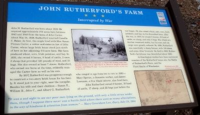 John Rutherford's Farm Marker image. Click for full size.