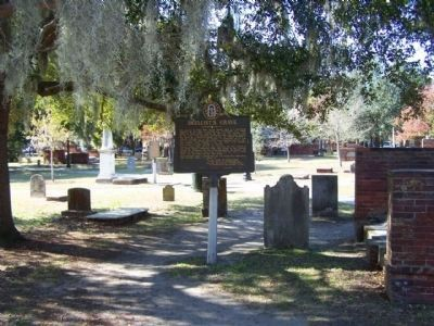 Duellist's Grave Marker, and grave as seen in Colonial Park Cemetery, Savannah image. Click for full size.