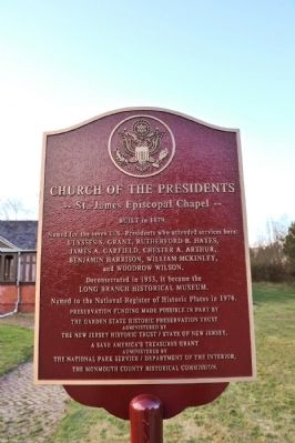 Church of the Presidents Marker image. Click for full size.