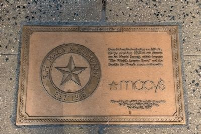 Macy's Department Store Sidewalk Marker image. Click for full size.